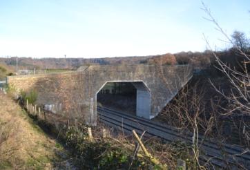 Construction d'un passage supérieur à Plombières