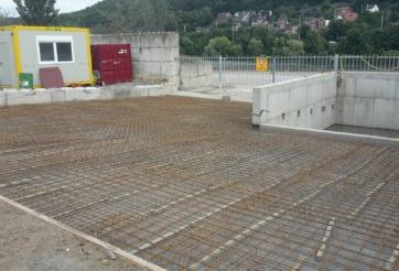 Construction de deux trémies de chargement à Liège